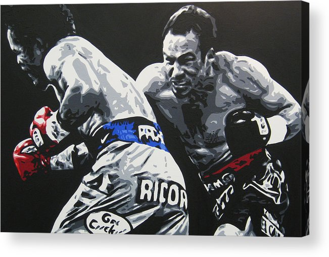 Pacquiao Acrylic Print featuring the painting Pacman Marquez 2 by Geo Thomson