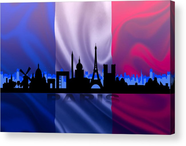 Architecture Acrylic Print featuring the digital art Paris City by Don Kuing