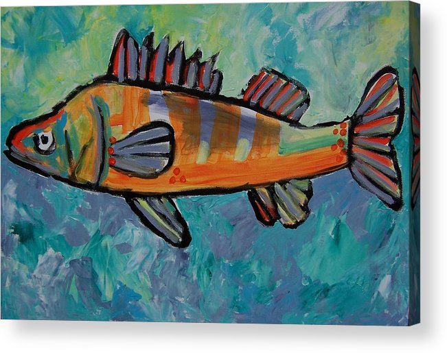 Perch Acrylic Print featuring the painting Perch by Krista Ouellette