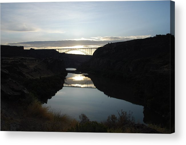 Perrine Acrylic Print featuring the photograph Perrine Bridge Sunrise by Mary Griffin