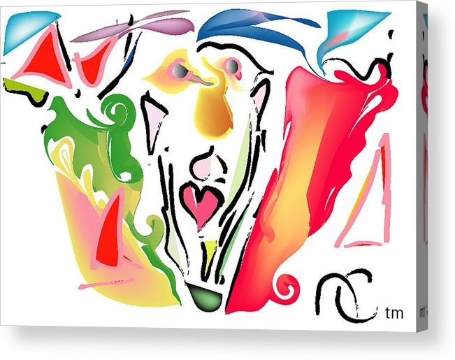 Life's Crazy Acrylic Print featuring the digital art Pop Goes The Crazy by Andy Cordan