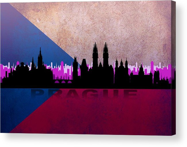 Architecture Acrylic Print featuring the digital art Prague City by Don Kuing