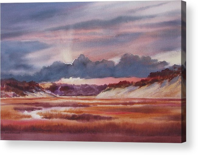 Dramatic Acrylic Print featuring the painting Provincelands by Karol Wyckoff