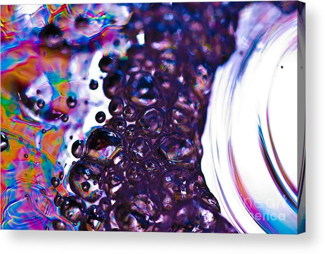 Abstract Acrylic Print featuring the photograph Purple Fusion by Anthony Sacco