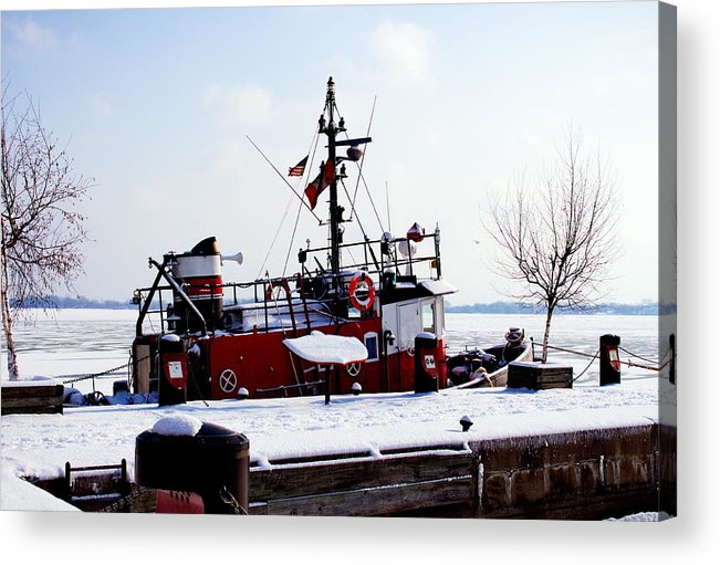 Nature Acrylic Print featuring the photograph Red Boat by Nicky Jameson
