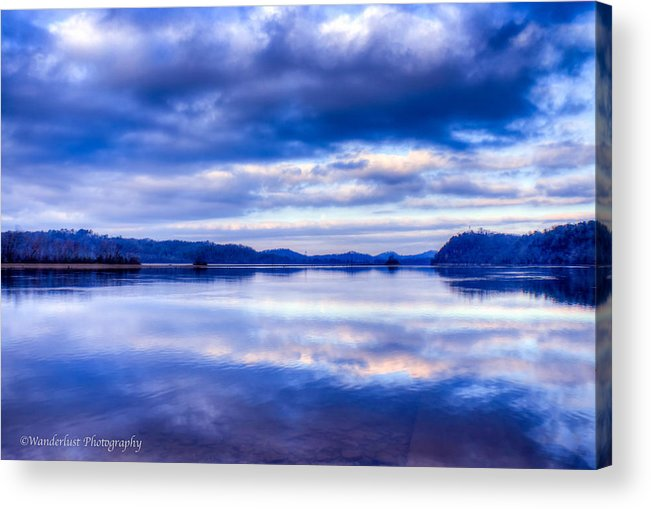 Reflections Acrylic Print featuring the photograph Reflections In Blue by Paul Herrmann