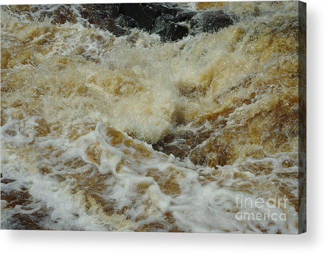 Foam Acrylic Print featuring the photograph River Foam by Alice Markham