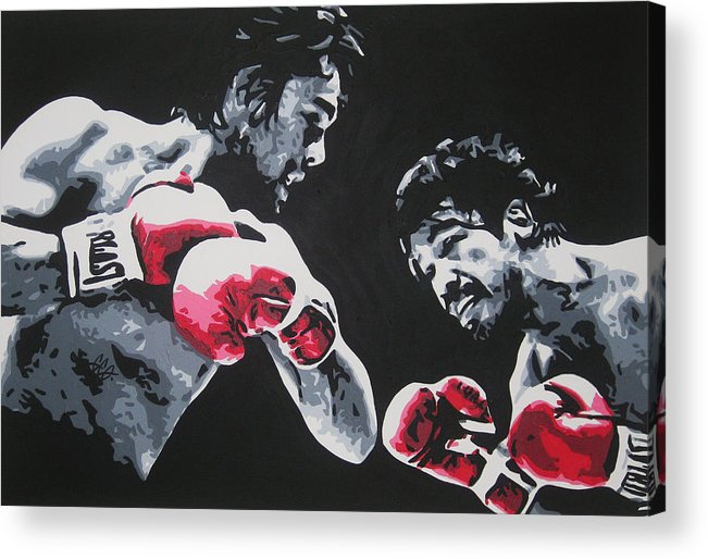 Roberto Duran Acrylic Print featuring the painting Roberto Duran 4 by Geo Thomson