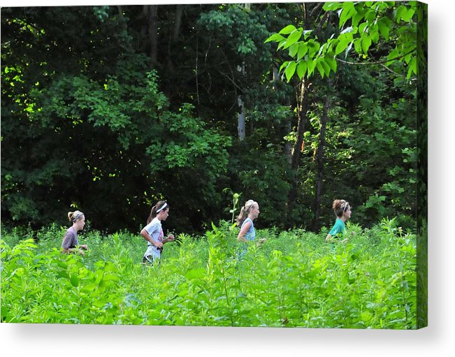 Running Trails In Kentucky Has Become Very Common Acrylic Print featuring the photograph Running Women by Craig Dooley