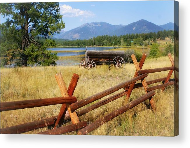 Landscape Acrylic Print featuring the photograph Rustic Wagon by Marty Koch