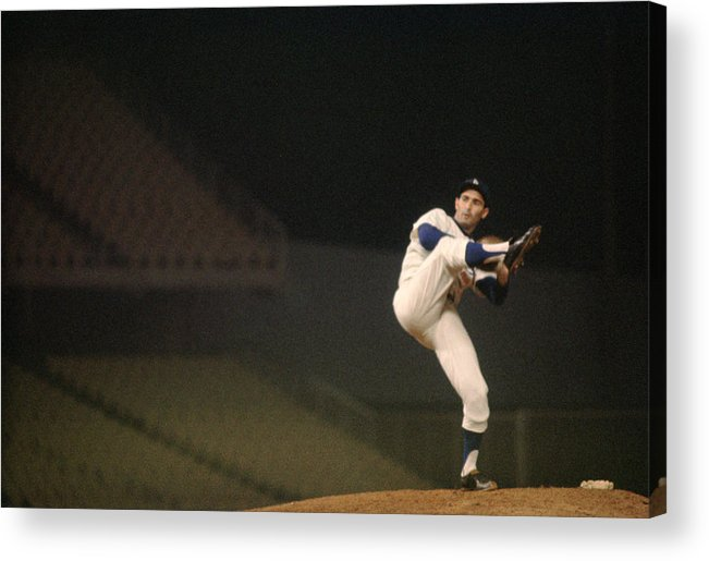 Classic Acrylic Print featuring the photograph Sandy Koufax High Kick by Retro Images Archive