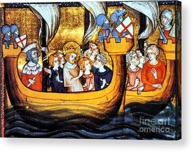 Navigation Acrylic Print featuring the photograph Seventh Crusade 13th Century by Photo Researchers