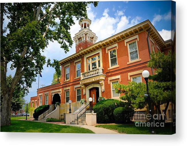 Allegheny County Acrylic Print featuring the photograph Sewickley Pennsylvania Municipal Hall by Amy Cicconi