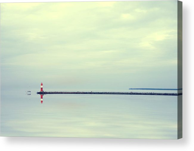 Ostsee Acrylic Print featuring the pyrography Silence by Steffen Gierok