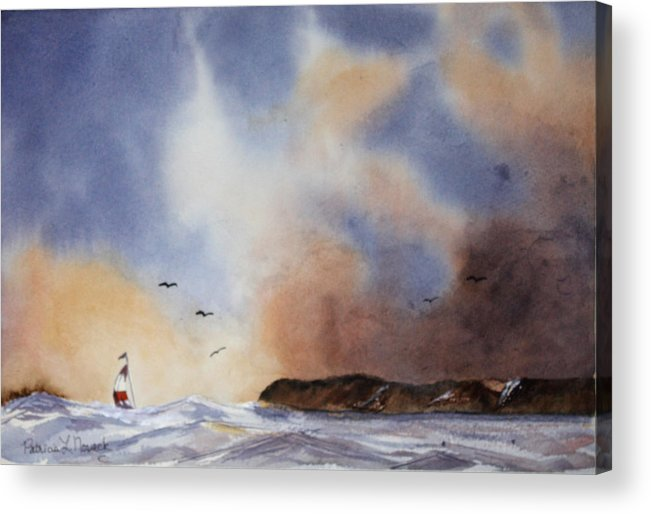 Sealscape Acrylic Print featuring the painting Stormy Sea by Patricia Novack