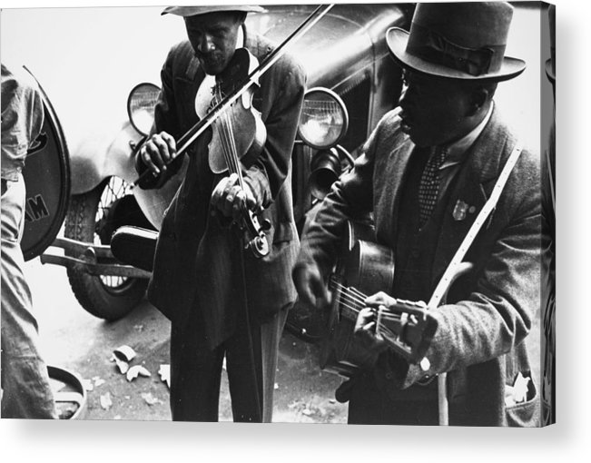 1935 Acrylic Print featuring the photograph Street Musicians, 1935 by Granger