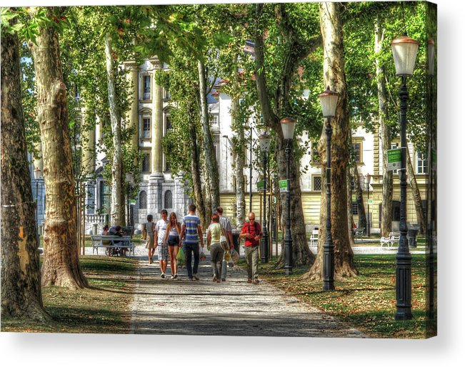 Walking Acrylic Print featuring the photograph Strolling In Slovenia by Douglas J Fisher