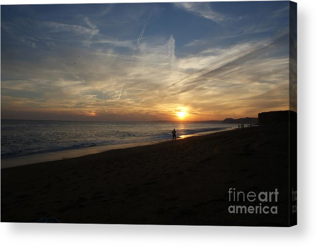Sunset Acrylic Print featuring the photograph Sunset Hive Beach Summer 2010 Three by Simon Kennedy