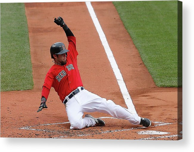 American League Baseball Acrylic Print featuring the photograph Tampa Bay Rays V Boston Red Sox - Game by Jim Rogash