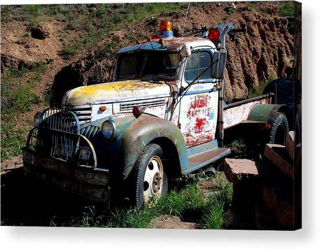 Truck Acrylic Print featuring the photograph The Old Truck by Dany Lison