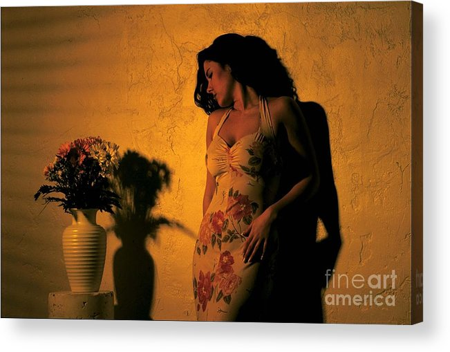 Model Acrylic Print featuring the photograph Tiffany Vase by Gary Gingrich Galleries
