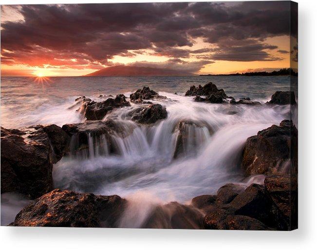 Hawaii Acrylic Print featuring the photograph Tropical Cauldron by Mike Dawson