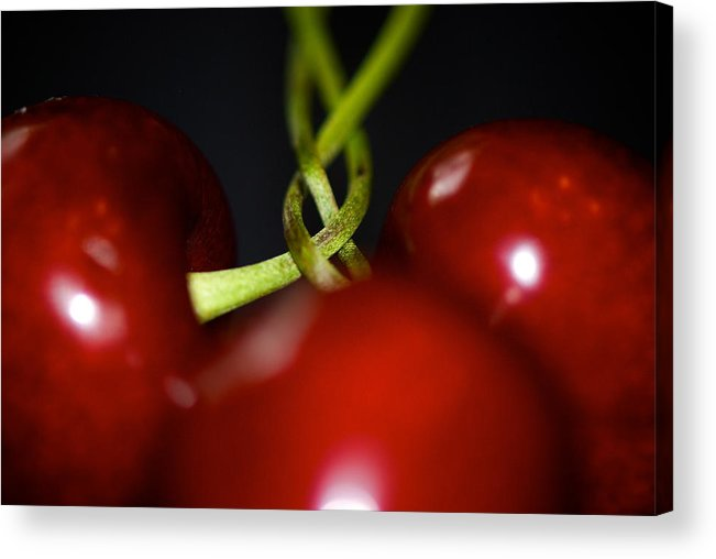 Cherries Acrylic Print featuring the photograph Twisted Cherries by Lisa Knechtel