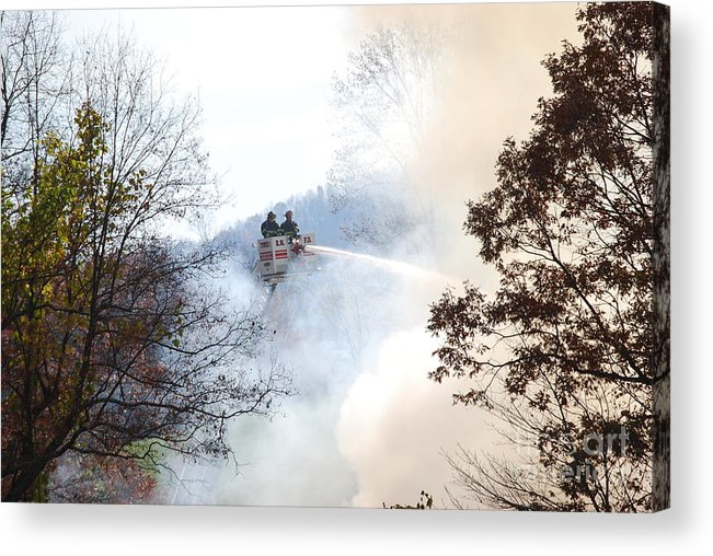 Fire Acrylic Print featuring the photograph Up In Smoke by Eric Liller