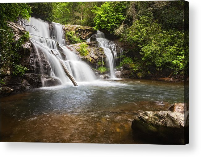 Upper Acrylic Print featuring the photograph Upper Falls On Moccasin Creek by Alex Mironyuk