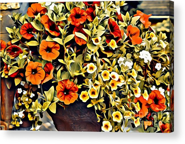 Flowers Acrylic Print featuring the photograph V.i. 0064 by Charles Cunningham