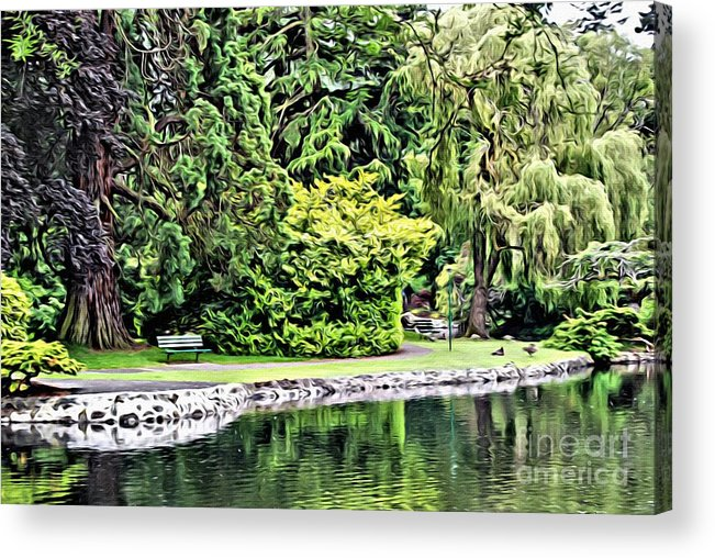 Park Acrylic Print featuring the photograph V.i. 0121 by Charles Cunningham