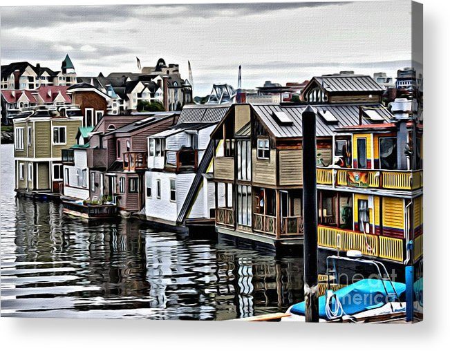 House Boats Acrylic Print featuring the photograph V.i. 0150 by Charles Cunningham