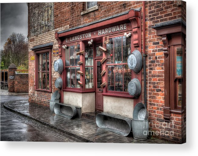 Architecture Acrylic Print featuring the photograph Victorian Hardware Store by Adrian Evans