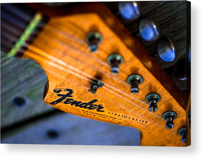 Fender Stratocaster Neck >> Vintage Fender Stratocaster Neck Acrylic Print By Meir Jacob