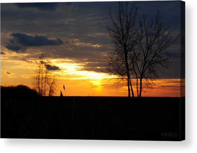 Acrylic Print featuring the photograph 01 Sunset by Michael Frank Jr