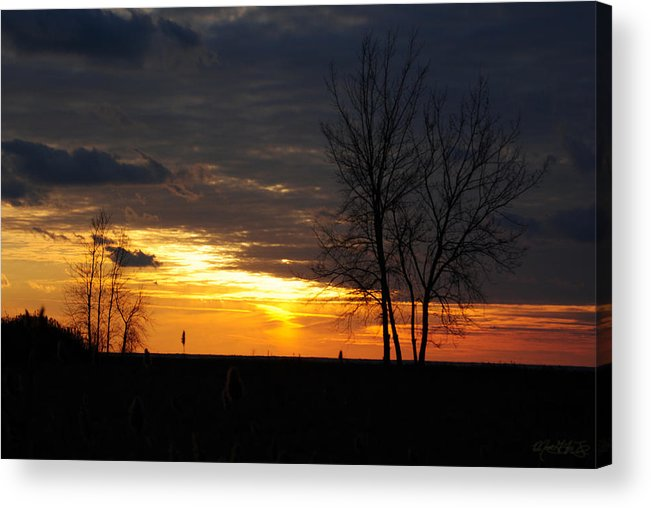 Acrylic Print featuring the photograph 02 Sunset by Michael Frank Jr