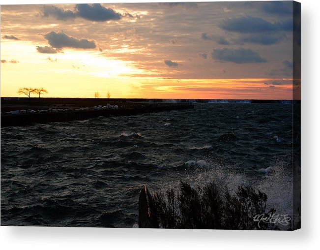 Acrylic Print featuring the photograph 08 Sunset by Michael Frank Jr
