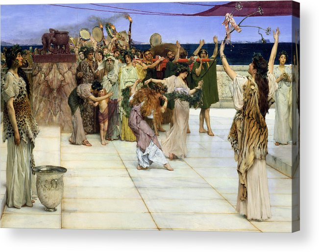 Dedication Acrylic Print featuring the painting A Dedication To Bacchus by Sir Lawrence Alma-Tadema