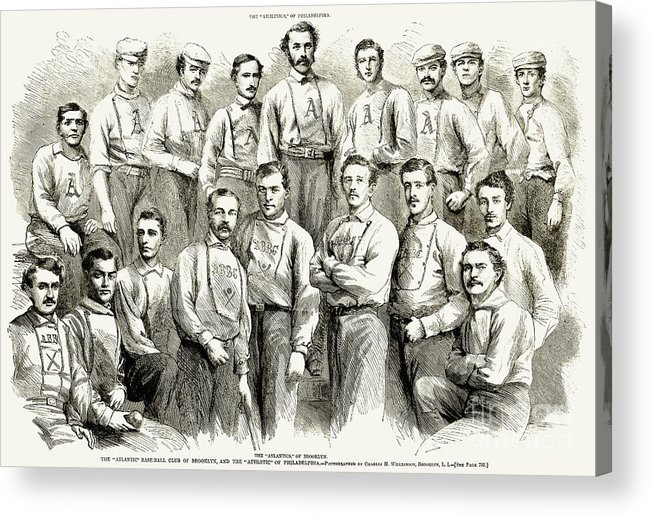 1866 Acrylic Print featuring the photograph Baseball Teams, 1866 by Granger