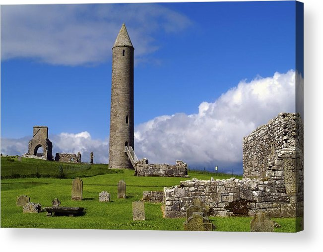Architectural Exteriors Acrylic Print featuring the photograph Devenish Monastic Site, Co. Fermanagh by The Irish Image Collection
