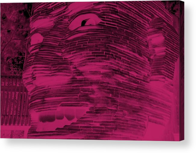 Architecture Acrylic Print featuring the photograph Gentle Giant In Hot Pink by Rob Hans