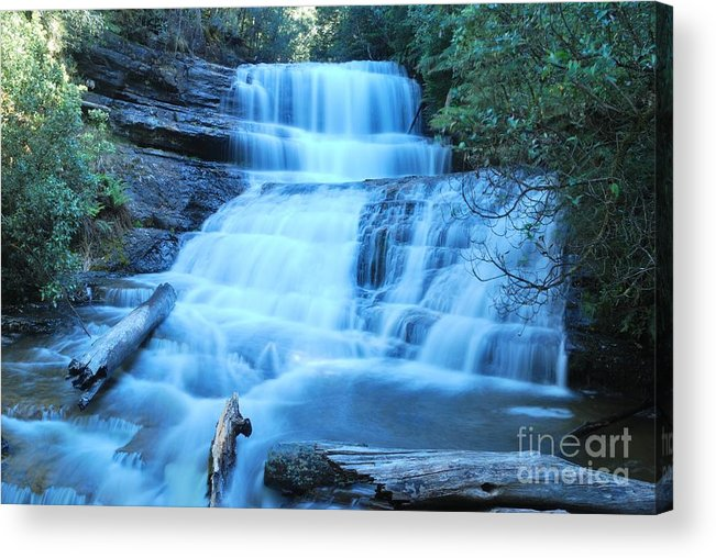 Lady Barron Falls Acrylic Print featuring the photograph Lady Barron Falls by Peter Harrison