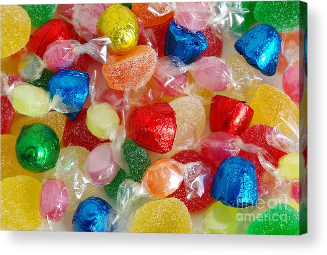 Candy Acrylic Print featuring the photograph Sweet Candies by Carlos Caetano