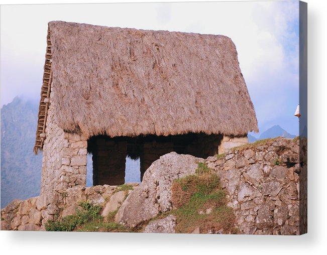 Peru machu Picchu Machu Picchu Andes Inca Acrylic Print featuring the photograph The Guardhouse by Harvey Barrison