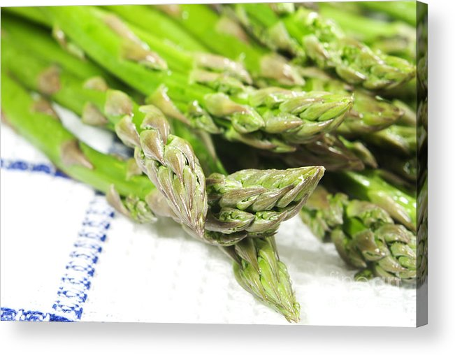 Asparagus Acrylic Print featuring the photograph Green Asparagus by Blink Images