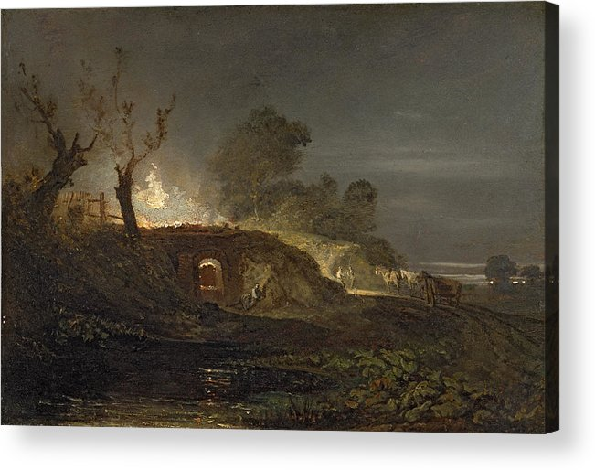 Xyc145616 Acrylic Print featuring the photograph A Lime Kiln At Coalbrookdale by Joseph Mallord William Turner