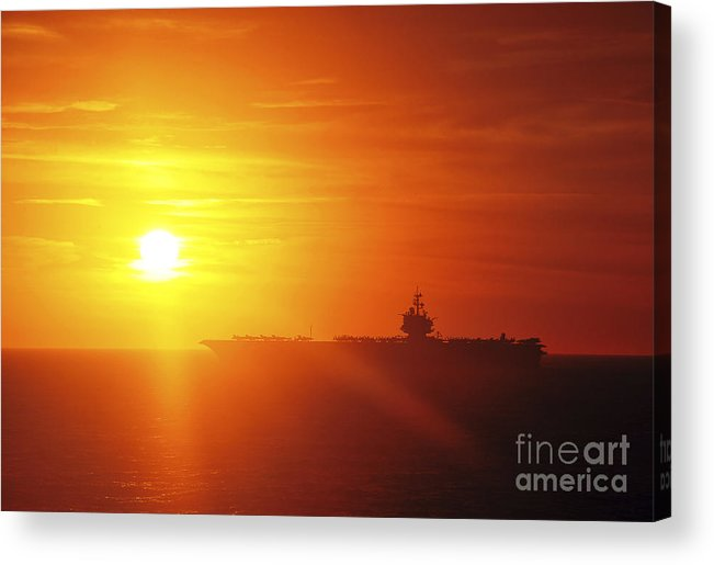 Uss Enterprise Acrylic Print featuring the photograph Aircraft Carrier Uss Enterprise by Stocktrek Images