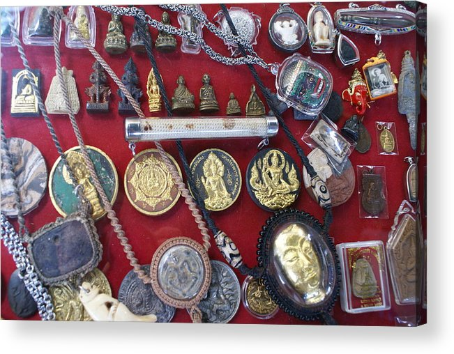 Amulets Acrylic Print featuring the photograph Amulets For Sale by Gregory Smith