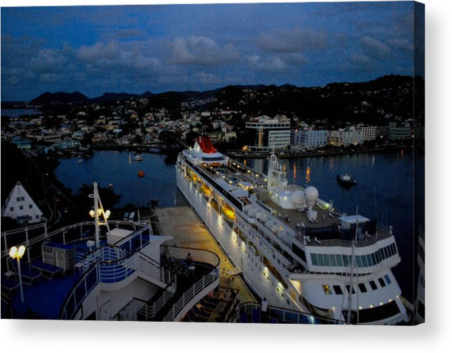 Antigua Acrylic Print featuring the photograph Antigua Dusk by Gary Wonning