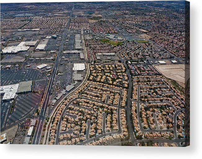 Acrylic Print featuring the digital art Arial View Of Las Vegas by Susan Stone
